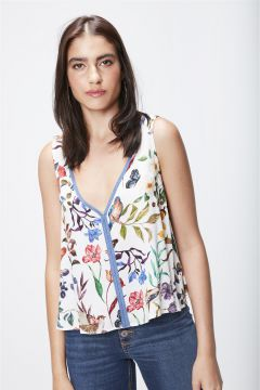 Top Cropped Estampado Feminino - Damyller