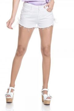 Short Jeans Feminino Young Branco - Dz6266  - Denim Zero