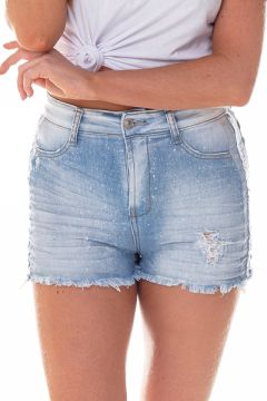 Short Jeans Feminino Pin Up Claro - Dz6253  - Denim Zero