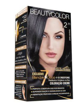 Coloração Beauty Color 2.11 Preto Azulado