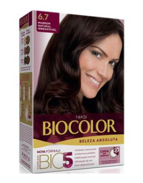 Tintura Biocolor Kit Creme 6.7 Marrom Natural
