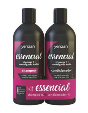 Kit Yenzah Shampoo + Condicionador Essencial 1000ml