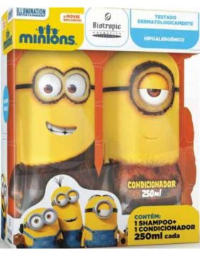 Kit Biotropic Minions Shampoo 250ml + Condicionador 250ml
