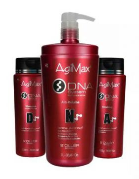 Kit Agimax Dna Redutor De Volume Shampoo 500ml+anti Volume 1