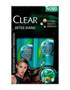 Kit Clear Shampoo + Condicionador Detox 200ml