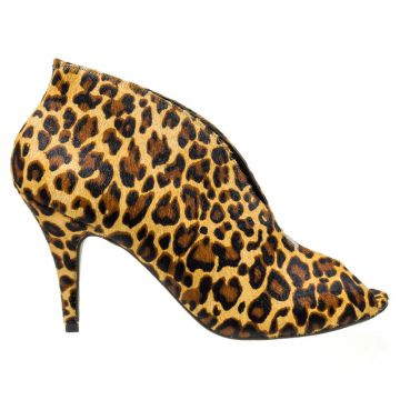 Ankle Boot Animal Print Com Decote - Odetelis
