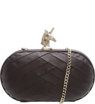 Clutch Schutz Unicorn Satin Preto
