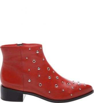Ankle Arezzo Boot Metais Royal Red