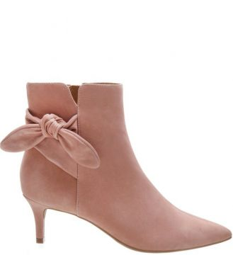 Ankle Arezzo Boot Nobuck Lace Up Smoke Rose