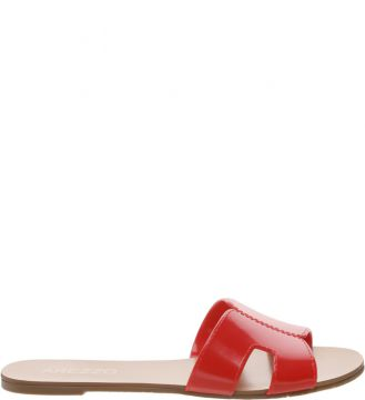 Chinelo Arezzo Rasteiro Vinil Royal Red