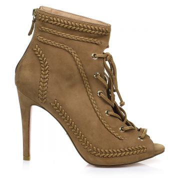Open Boot Nobuck Taupe