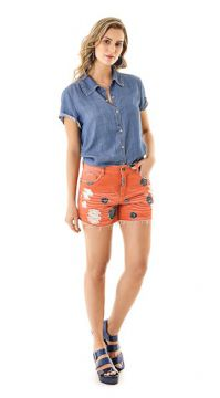 CAMISA JEANS CROPPED   Zinco