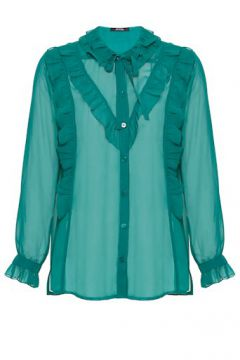 Blusa Crepe Babados Voile - Amissima