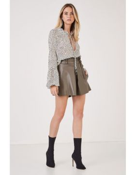 Short Couro New Clochard - Animale
