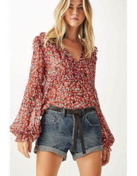 Short Jeans Vivo Couro - Animale