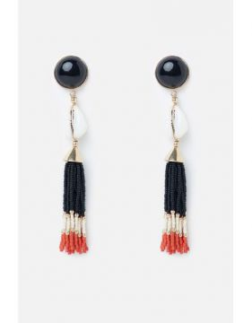 Brinco Búzio Beads - Preto - U - Animale