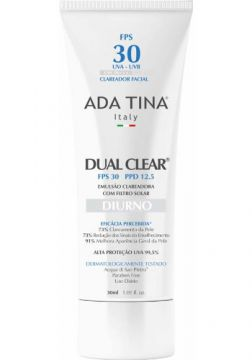 Dual Clear Diurno Ada Tina - Clareador Facial - Fps 30 - 30