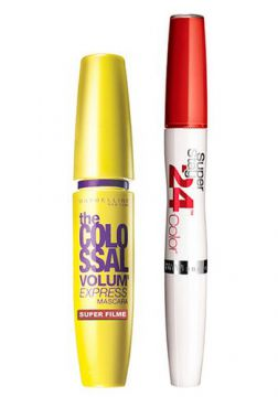 Kit Maybelline - Máscara The Colossal + Batom Super Stay 24