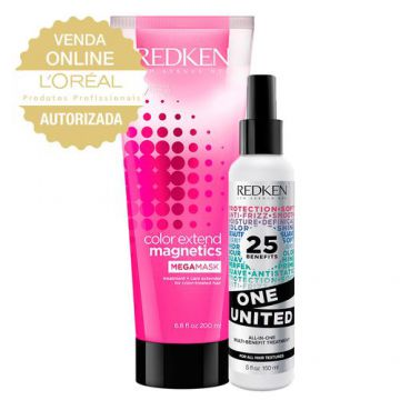 Redken One United + Color Ext Mega Mask Kit - Leave-In + Má