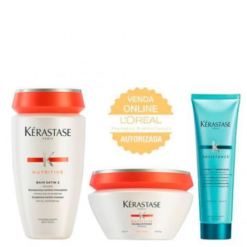 Kérastase Nutritive + Résistance Kit - Shampoo + Leave-In +