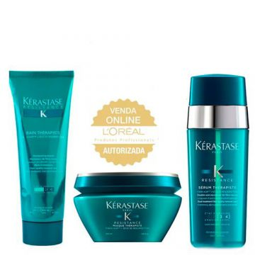 Kérastase Résistance Therapiste Kit - Shampoo + Leave-In +