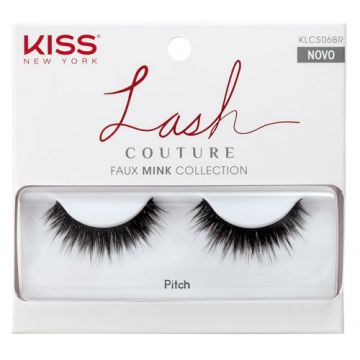 Cílios Postiços Kiss NY - Lash Couture Pitch - Pack Unitári