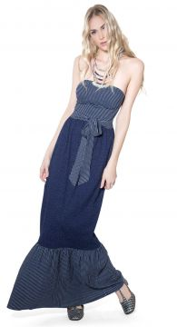 Vestido tomara que caia denim - Lucy In The Sky