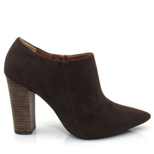 Bota Ankle Boot Feminina Cano Curto Cecconello 951004 Cafe