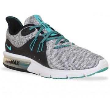 ef9698f3a4 Tenis Nike Running Air Max Sequent 3 921694-100 Branco Verde