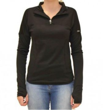 Blusa Fila Termica Therma Run Preto