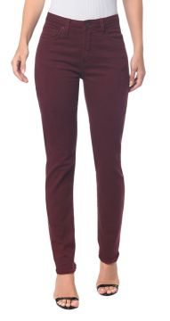 Calças Color Five Pockets High Rise Slim - Bordo - Calvin Kl