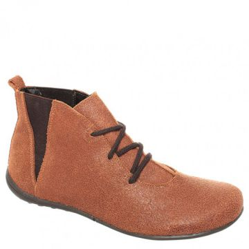 Ankle Boot Couro Caramelo