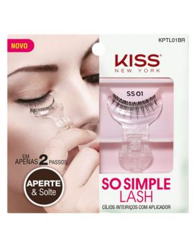 Cílios So Simples Lash 01 Com Aplicador Kiss New York