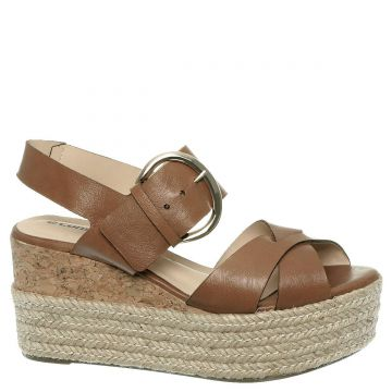 Constance Anabela Espadrille Marrom Couro