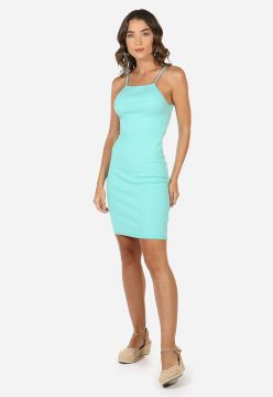 Vestido Rib High Neck - La Mandinne