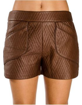 Short Couro Fake Lucidez 38