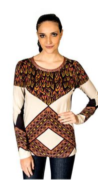 Blusa Viscose Tribal Iódice P