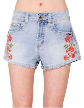 Short Jeans Megan Bordado Colcci