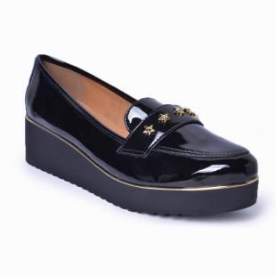 Slipper Flatform Lady Choice - Verniz Preto
