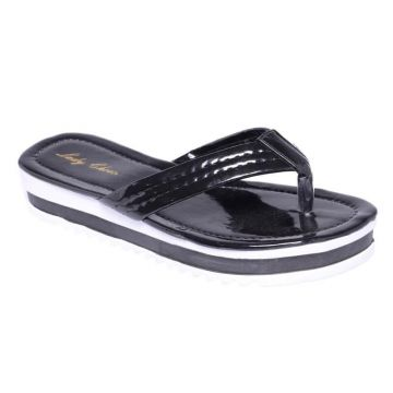 Chinelo Flatform Lady Choice - Preto