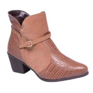 Bota Country Croco Crm Lady Choice - Caramelo