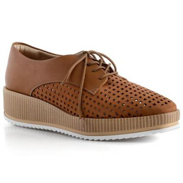 Sapato Oxford Flatform Laser Cut - Piccadilly