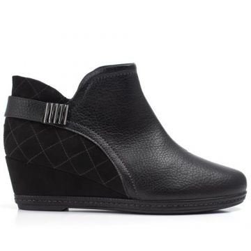 Ankle Boot Anabela Médio Preto - Piccadilly