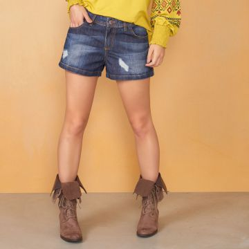 Short Curto Jeans