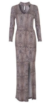 VESTIDO LONGO ANIMAL PRINT - TIGRESSE