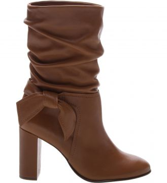 Slouch Boot Couro Laço Lateral Chivas - Arezzo