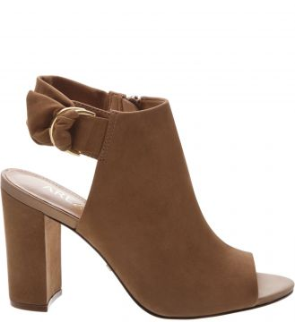 Sandal Boot Nobuck Cool Taupe - Arezzo