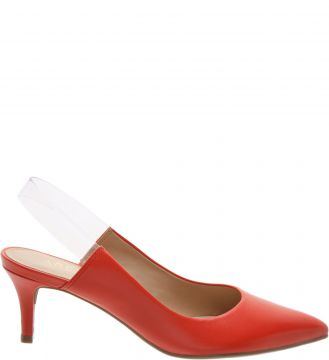 Scarpin Couro Tira Transparente Perfect Red - Arezzo