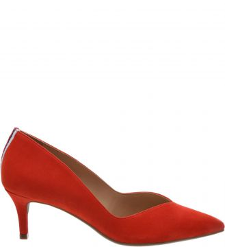Scarpin Nobuck Perfect Red Gorgurao Multicolor - Arezzo