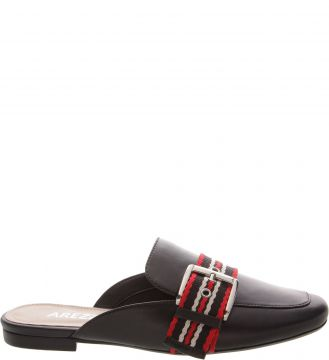 Mule Gorgurao Preto E Royal Red - Arezzo